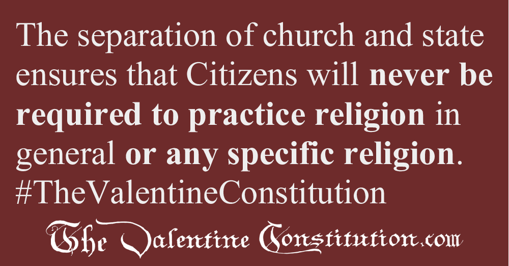 RIGHTS > RELIGION > Church and State