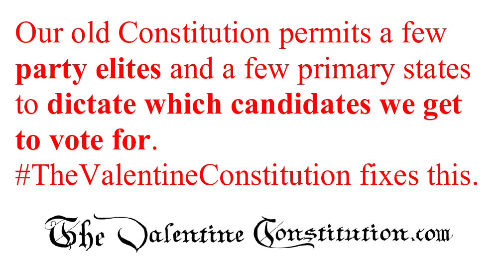CONSTITUTIONS > WHAT'S WRONG with our CONSTITUTION? > Elections