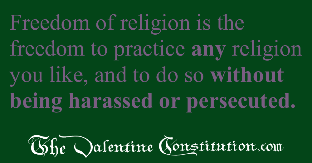 RIGHTS > RELIGION > Freedom of Religion