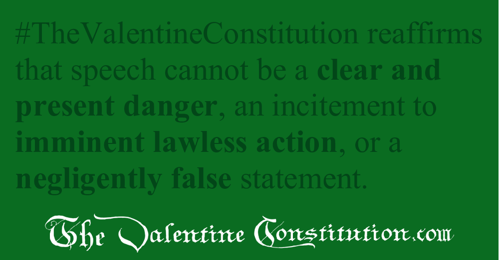 RIGHTS > FOUNDATIONAL RIGHTS > Freedom of Speech