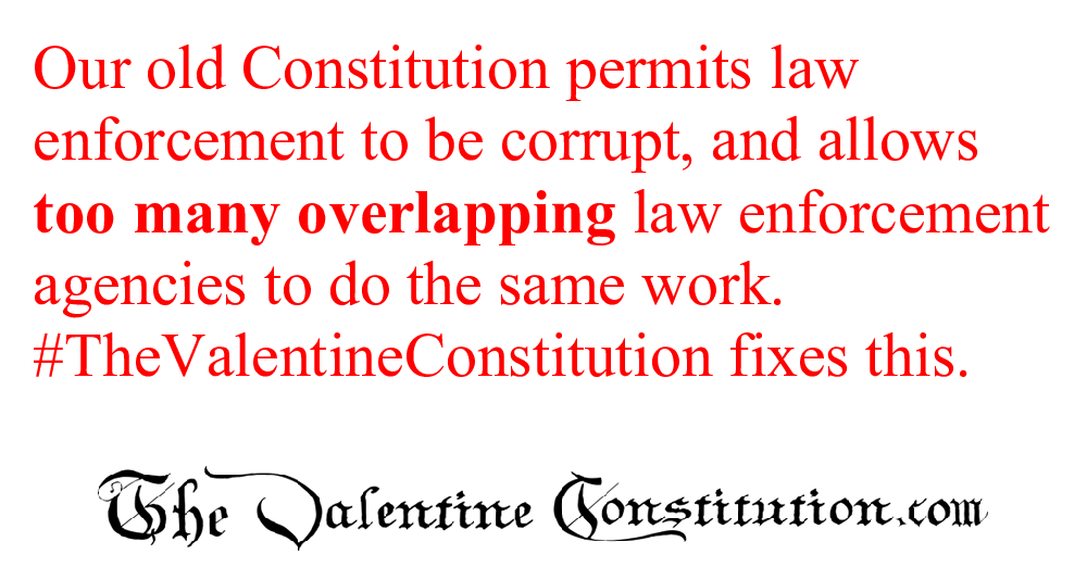 CONSTITUTIONS > WHAT'S WRONG with our CONSTITUTION? > Law Enforcement