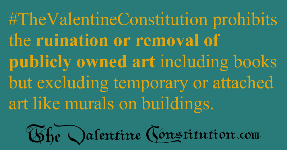 RIGHTS > MORALITY > No Art Ruination or Removal