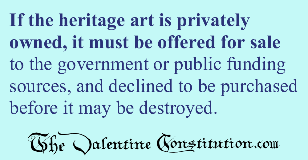 RIGHTS > AMERICAN CULTURE > No Heritage Art Removal