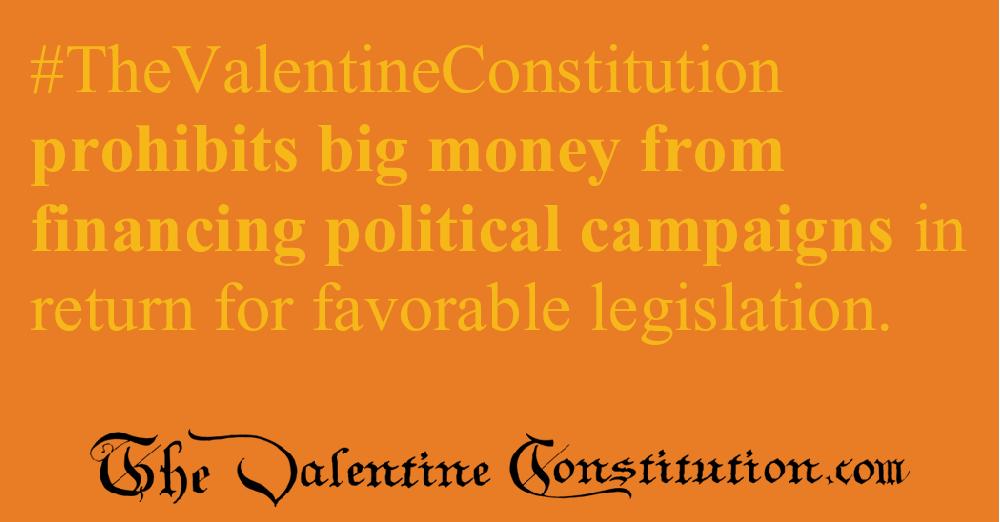 CAMPAIGN CORRUPTION > ELECTIONS > No PACs, No Special Interests