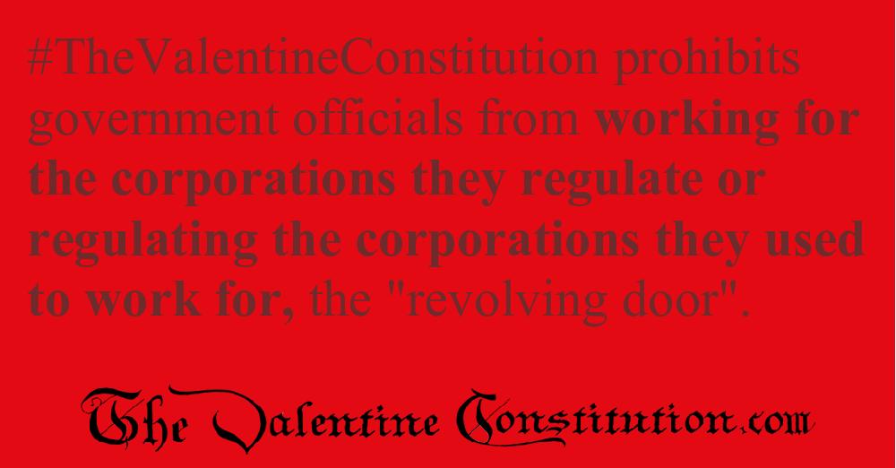CAMPAIGN CORRUPTION > ELECTIONS > No Revolving Door