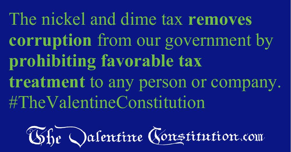 ECONOMY > SINGLE TAX > No Tax Subsidies