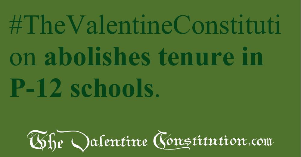 SCHOOLS > TEACHERS > No Tenure