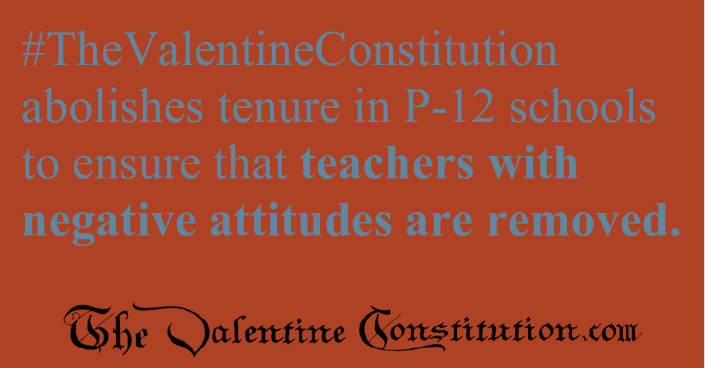 SCHOOLS > TEACHERS > No Tenure