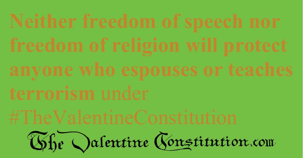 RIGHTS > RELIGION > No Treasonous Religions