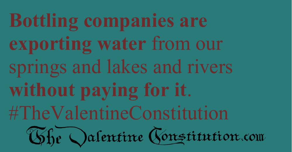 ENVIRONMENT > WATER > No Water Exportation