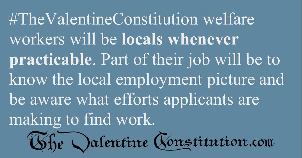 ECONOMY > WELFARE > No Welfare When Jobs locally Available