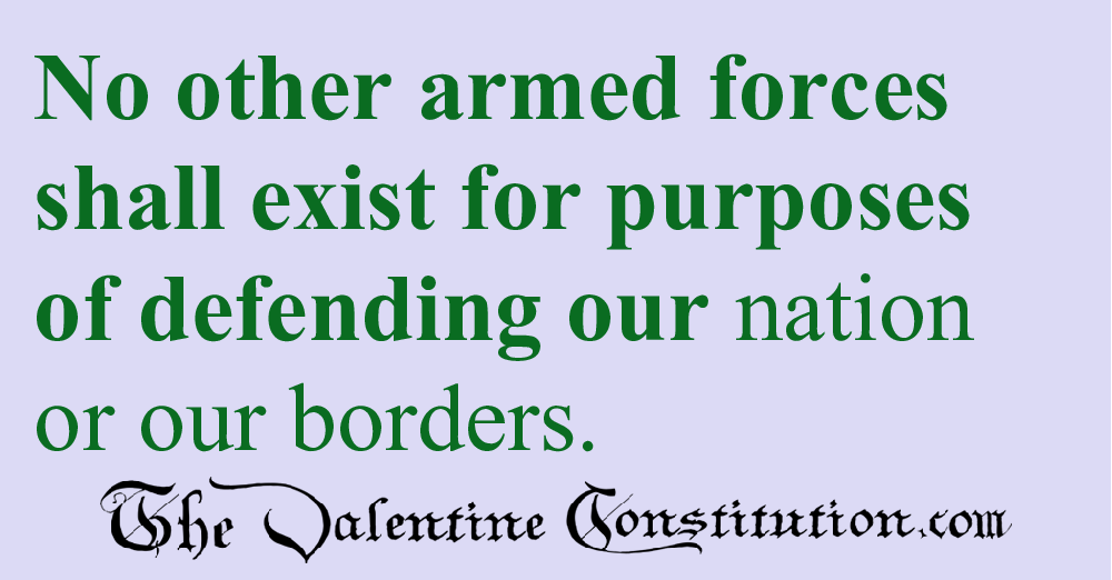 FOREIGN AFFAIRS > ARMED FORCES > One Branch
