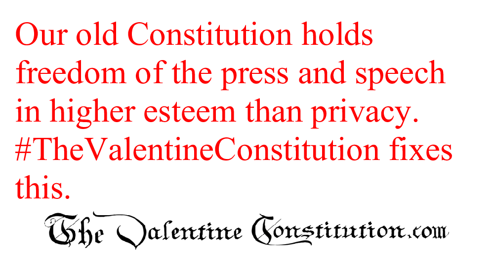 CONSTITUTIONS > WHAT'S WRONG with our CONSTITUTION? > Privacy