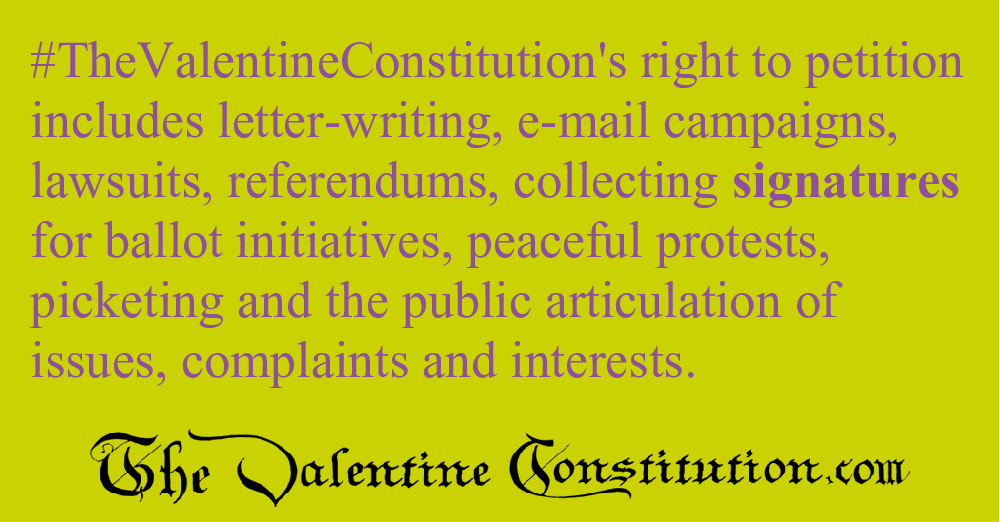 RIGHTS > FOUNDATIONAL RIGHTS > Freedom of Petition