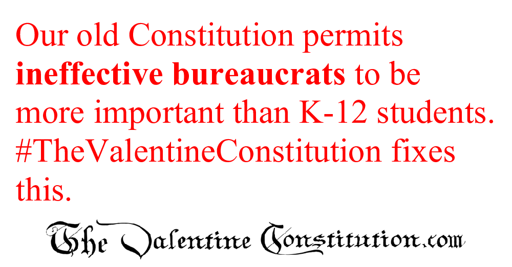 CONSTITUTIONS > WHAT'S WRONG with our CONSTITUTION? > Schools