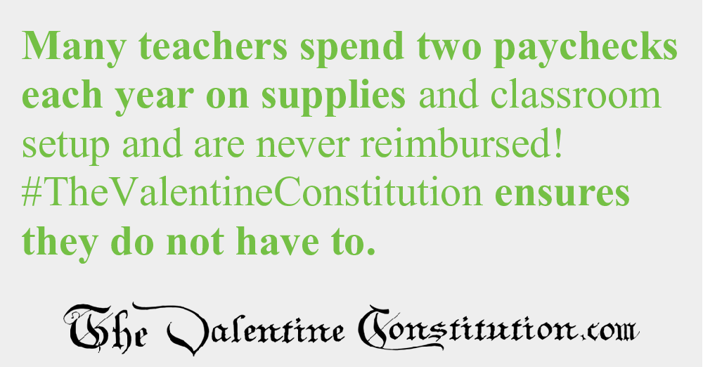 SCHOOLS > TEACHERS > Teachers Pay and Supplies