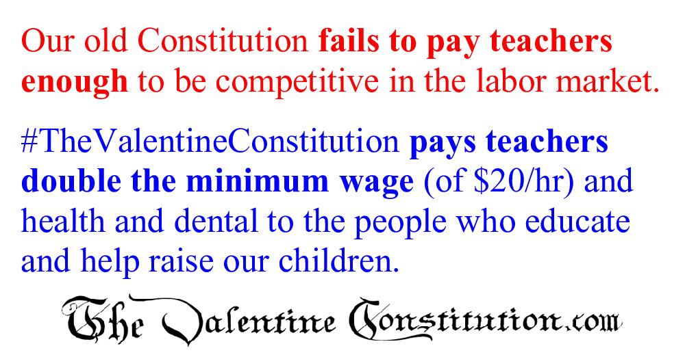 CONSTITUTIONS > COMPARE BOTH CONSTITUTIONS > Teachers
