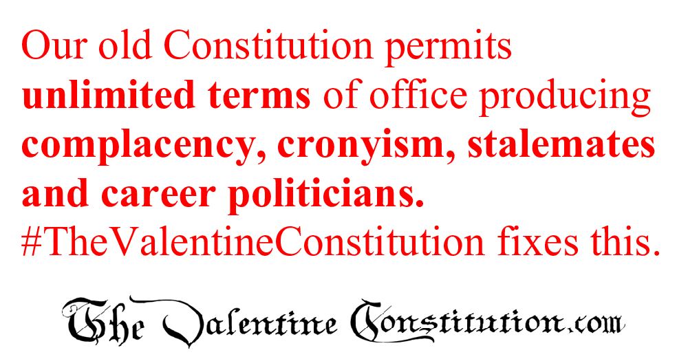 CONSTITUTIONS > WHAT'S WRONG with our CONSTITUTION? > Term Limits