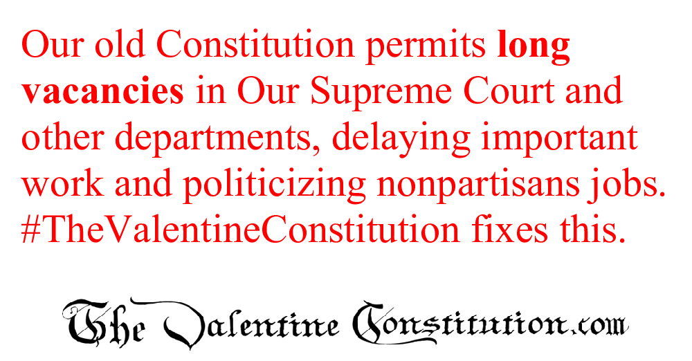 CONSTITUTIONS > WHAT'S WRONG with our CONSTITUTION? > Vacancies and Appointments